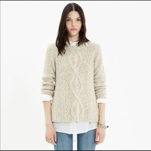 Madewell firelight marled pullover Sweater Cable M
